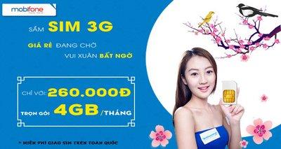 Sim 3G Mobifone trọn gói 1 năm