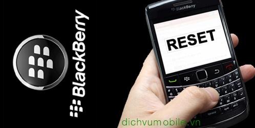 reset Blackbery