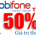 Mobifone khuyến mãi 50% giá trị thẻ nạp ngày 22 đến 23/4/2015