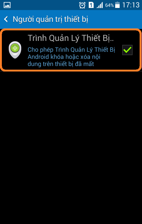 Chống trộm thiết bị android