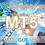 Đăng ký gói cước MT5 của Viettel 1GB chỉ 5000đ 1 ngày
