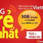 Đăng ký gói 3G khuyến mãi MIKM Viettel miễn phí 3GB trong 30 ngày
