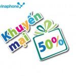 Khuyến mãi ngày vàng Vinaphone 24/6/2015 tặng 50% thẻ nạp