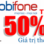 Khuyến mãi Mobifone tặng 50% giá trị thẻ nạp ngày 17/6/2015