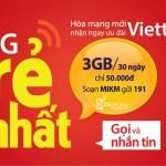 Viettel khuyến mãi 100% thẻ nạp cho thuê bao hòa mạng mới