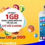 Đăng ký gói D5 Mobifone để dùng 3G Mobifone 1 ngày 5k với 1GB data