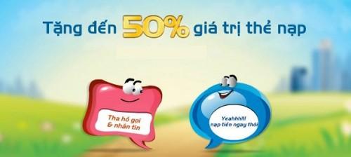 Mobifone khuyến mãi 50% thẻ nạp từ ngày 9 - 16/06/2015