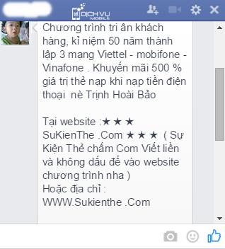 Cach chan tin nhan rac Facebook