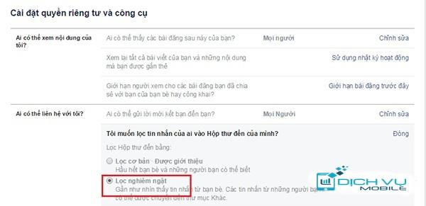 Chan tin nhan facebook 3