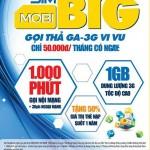 Gói khuyến mãi Mobi Big của Mobifone gọi điện, lướt 3G thả ga