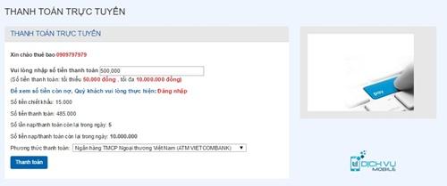 Huong dan nap tien va thanh toan online tren Mobifone.vn 3