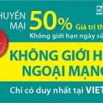 Viettel khuyến mãi tặng 50% thẻ nạp 2 ngày 10 – 11/7/2015