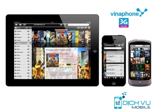 Bang gia cuoc 3G Vinaphone