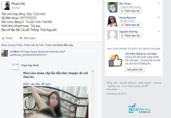Cach chan spam sex tren Facebook