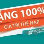Viettel khuyến mãi tặng 100% thẻ nạp ngày 10 – 11/8/2015