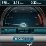 Tốc độ 3G mạng Vinaphone khi bóp băng thông
