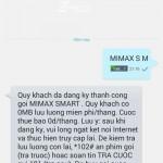Đăng ký gói Mimax S M của Viettel sử dụng Mimax miễn phí