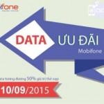 Khuyến mãi Mobifone tặng 50% data Fast Connect 10/9/2015