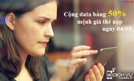 Khuyen mai Mobifone tang 50 data fast connect ngay 4-9-2015