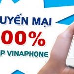 Khuyến mãi Vinaphone tặng 100% thẻ nạp ngày 25/9/2015
