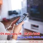 Khuyến mãi Mobifone tặng 100% data ngày 28 – 29/10/2015