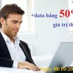 Khuyến mãi Mobifone tặng 50% data 3G ngày 8/102015