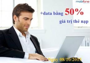 Khuyen mai Mobifone tang 50 data 3g ngay 8-10-2015