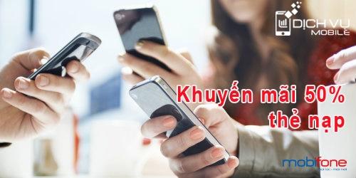 Khuyen mai Mobifone tang 50 the nap ngay 8-10-2015