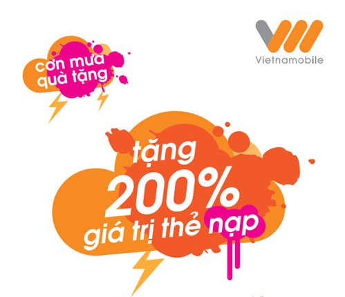 Khuyen mai Vietnamobile tang 200 the nap ngay 10-11-10-2015