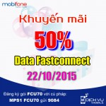 Mobifone khuyến mãi cộng 50% data Fast Connect 22/10/2015