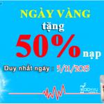 Khuyến mãi Vinaphone tặng 50% thẻ nạp ngày vàng 5/11/2015