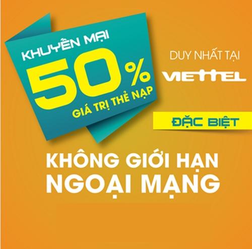 Khuyen mai nap the Viettel ngay 30-11-2015