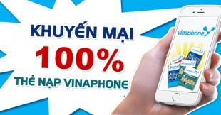 Khuyen mai tang 100 the nap Vinaphone ngay 18-11-2015