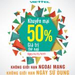 Khuyến mãi Viettel tặng 50% thẻ nạp ngày 14/11/2015
