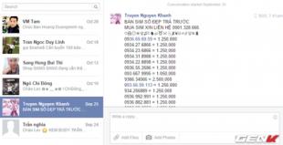 Chặn tin nhắn rao bán trên Facebook