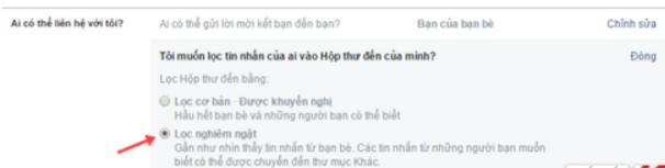 Chặn tin nhắn rao bán trên Facebook 4