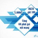 Đăng ký gói FT5N của Viettel 5k ưu đãi 60 phút nội mạng