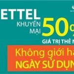 Khuyến mãi Viettel từ ngày 15 đến 16/12 tặng 50% thẻ nạp