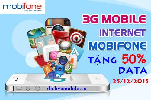 Khuyen mai tang 50 data Mobifone ngay 25-12