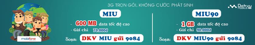 KM Mobifone 3G trọn gói