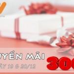 Khuyến mãi 300% nạp thẻ Vietnamobile ngày 19, 20/12/2015