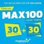 Khuyến mãi Sim VinaXtra xài 3G, gọi, nhắn tin 1 năm miễn phí