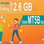 Đăng ký gói MT5B của Viettel mua thêm 2.6GB data