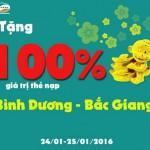 Viettel khuyến mãi tặng 100% thẻ nạp ngày 24 và 25/1