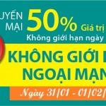 Khuyến mãi Viettel ngày 31/1 đến 1/2/2016 tặng 50% thẻ nạp