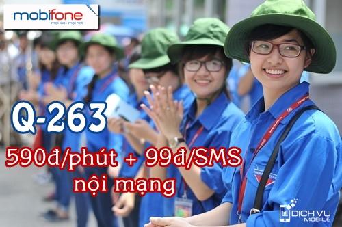 Gói cước Q-263 Mobifone cho cán bộ Đoàn