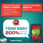 Ưu đãi khi hòa mạng sim cà chua xanh Viettel với gói Tomato Green