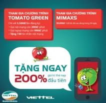 Khuyến mãi hòa mạng mới với gói Tomato Green