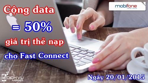 Khuyến mãi Fast Connect Mobifone ngày 20/01
