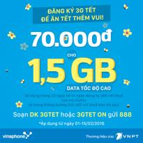 Đăng ký gói 3GTET của Vinaphone
